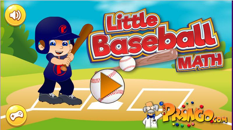 Little Baseball Math Game.