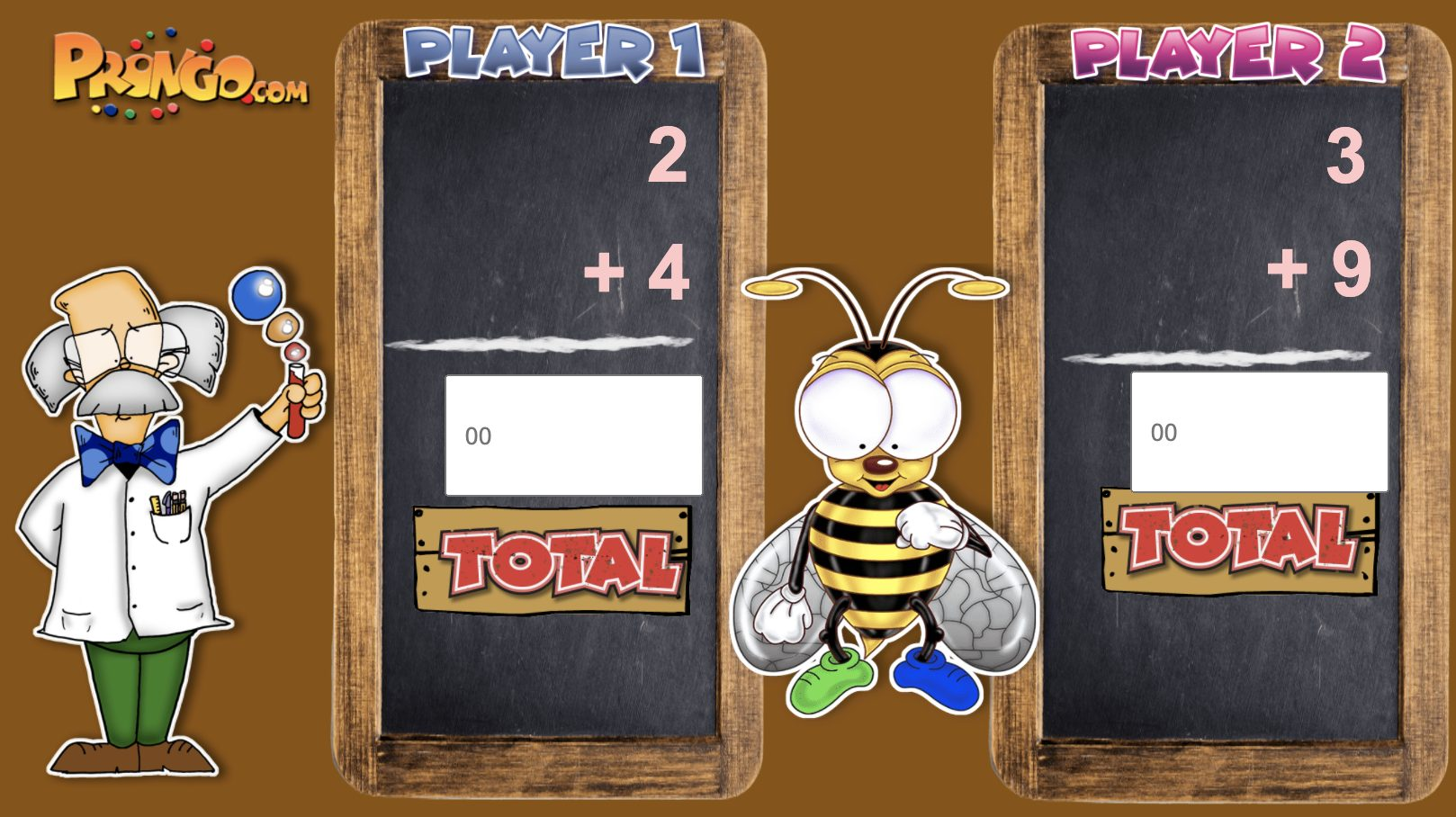 2-Player Math game. Addition