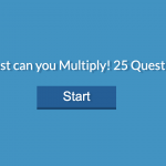 Multiplication Math Quiz!