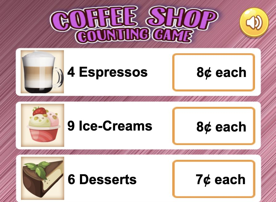 Image Coffee Shop - Counting Game