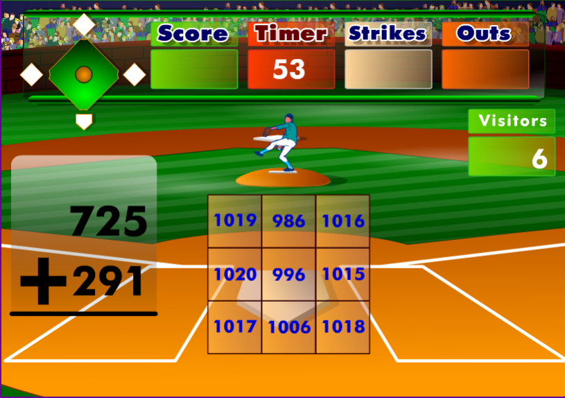 Image Batter's Up Baseball Math Addition