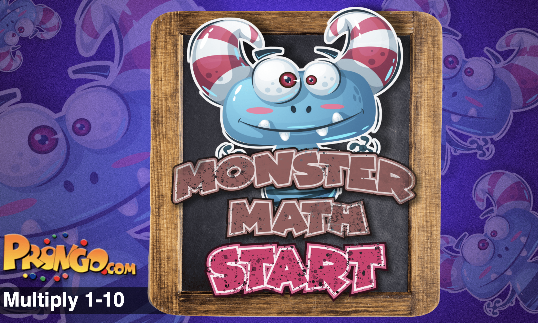 Monster Math Multiplying 1-10