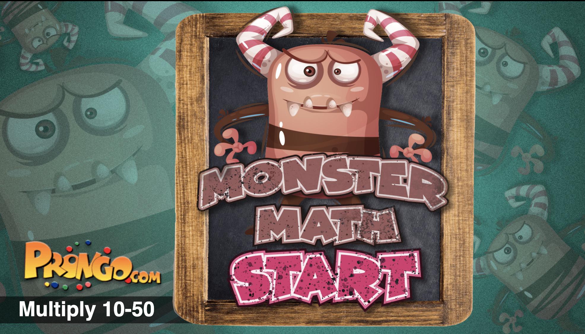 Image Monster Math Multiplying 10 - 50