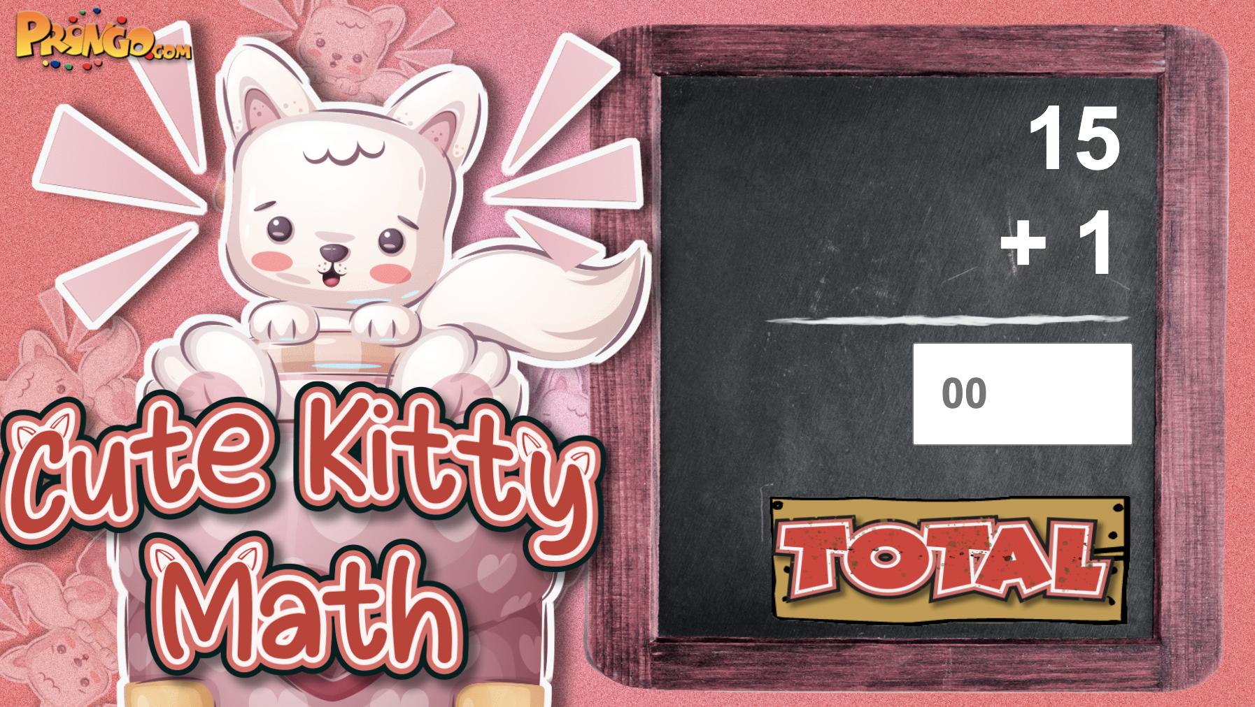 Image Cute Kitty Math Game - Adding 1-20