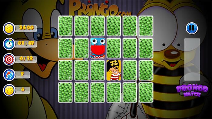 Prongo Memory Match Game